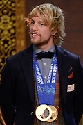 Officiele Huldiging van de Olympische medaillewinnaars Sochi 2014 / Official Ceremony of the Sochi 2014 Olympic medalists.<br /> <br /> Op de foto:  Michel Mulder