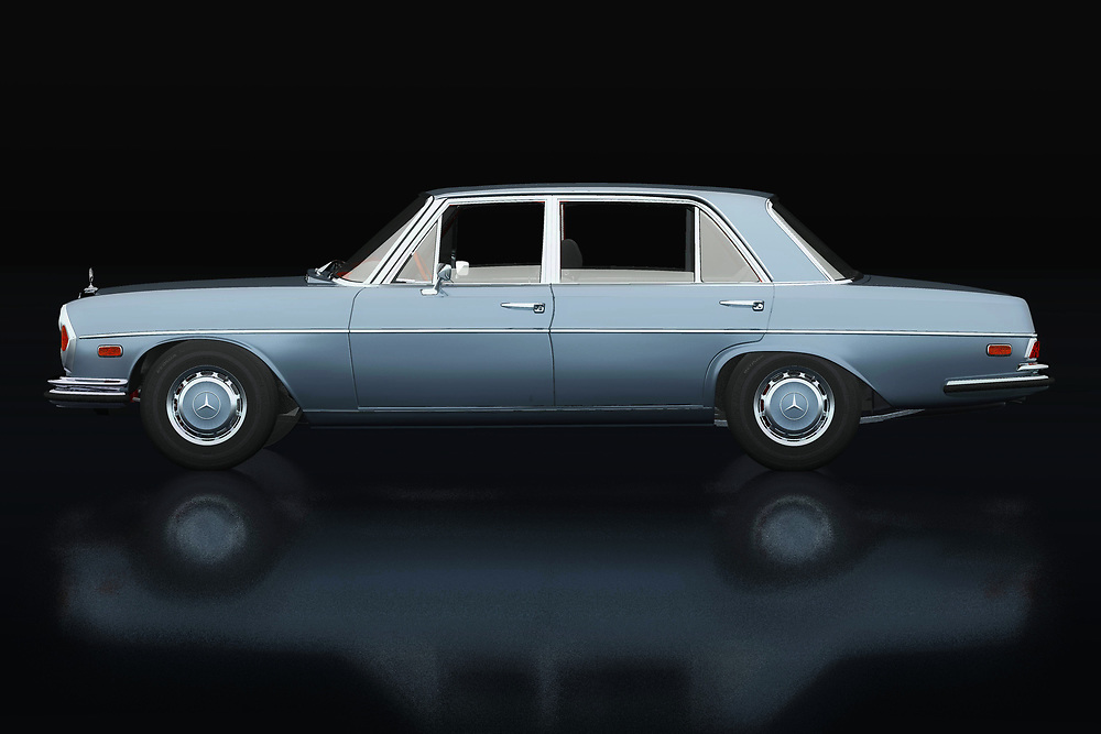 The 1972 Mercedes 300 SEL 6.3 looks like an ordinary everyday Mercedes used by ordinary people. But nothing could be further from the truth! It is a racing machine, a true beast because with such an engine this 1972 Mercedes 300 SEL 6,3 shows many sports cars its rear lights.<br /> <br /> This painting of a 1972 Mercedes 300 SEL 6,3 can be printed very large on different materials. -<br /> BUY THIS PRINT AT<br /> <br /> FINE ART AMERICA<br /> ENGLISH<br /> https://janke.pixels.com/featured/mercedes-300-sel-lateral-view-jan-keteleer.html<br /> <br /> WADM / OH MY PRINTS<br /> DUTCH / FRENCH / GERMAN<br /> https://www.werkaandemuur.nl/nl/shopwerk/Mercedes-300-SEL-Zijaanzicht/738459/132?mediumId=11&size=75x50<br /> <br /> -
