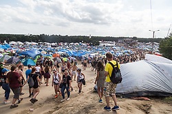 August 4, 2017 - Wroclaw, Poland - Woodstock Festival is the largest music festival in Poland. Every year Kostrzyn attracts about 200 thousand people to play with the password love, friendship and music. Kostrzyn, Poland. (Credit Image: © Krzysztof Kaniewski via ZUMA Wire)
