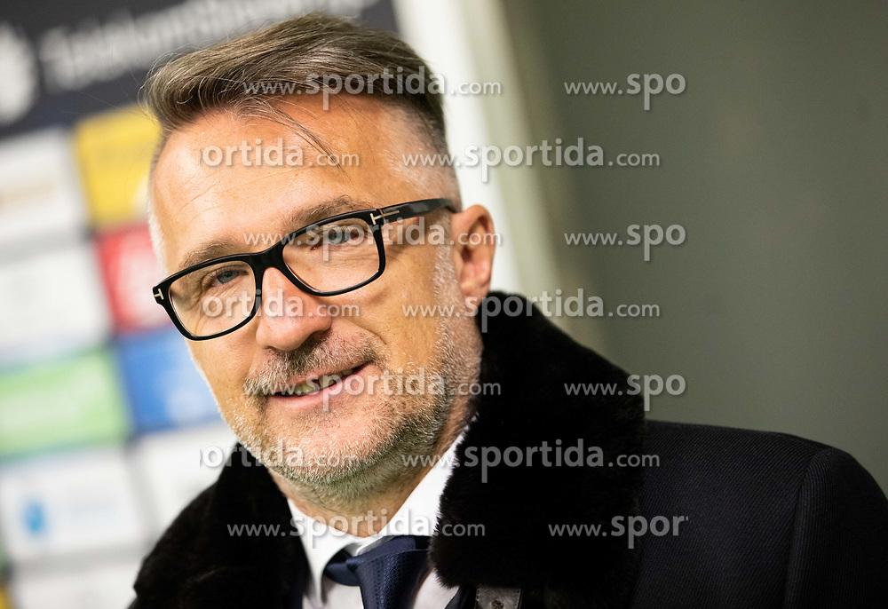 Fabijan Komljenović during press conference of NK Olimpija Ljubljana before spring season of Prva Liga Telekom Slovenije 2018/19, on February 21, 2019 in SRC Stozice, Ljubljana, Slovenia. Photo by Vid Ponikvar / Sportida