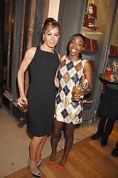 Left to right, TARA PALMER-TOMKINSON and ESTELLE at the Royal Academy of Art Summer Exhibition Preview Party on 4th June 2008.<br />