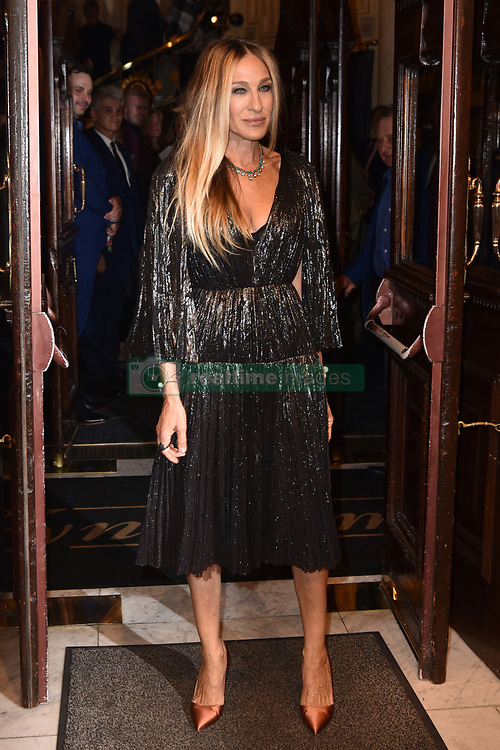 May 29, 2019 - London, London, United Kingdom - Image licensed to i-Images Picture Agency. 29/05/2019. London, United Kingdom. Sarah Jessica Parker attends The Starry Messenger press night  in London  (Credit Image: © i-Images via ZUMA Press)