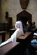 Israel, Nazareth, Interior of the Basilica of the Annunciation, Easter Mass