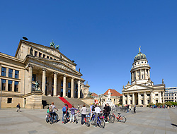 View of Gendarmenmarkt square with Konzerthaus on the left  in Mitte Berlin Germany