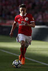May 13, 2018 - Lisbon, Portugal - Benfica's midfielder Franco Cervi  in action  during the Portuguese League football match between SL Benfica and Moreirense FC at Luz Stadium in Lisbon on May 13, 2018. (Credit Image: © Carlos Palma/NurPhoto via ZUMA Press)