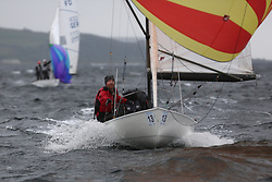 The Flying Dutchman World Championships,  Largs 2014. First days racing in breezy conditions on the Clyde. <br /> <br /> The former Olympic class has attract 40 worldwide competitors to Scotland to compete. <br /> <br /> PIctures Marc Turner / PFM Pictures