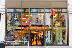 September 6, 2017 - London, London, UK - A Lego store in Leicester Square.  Toymaker Lego is cutting 1,400 jobs worldwide in the face of falling sales and profits. (Credit Image: © Ray Tang via ZUMA Press)