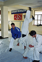 Norwegian judo trainers visiting Kabul, Afghanistan, as a part of tha Judo for fred (Judo for peace) program....- ....Norske judotrenere på besøk i Kabul, Afghanistan, ifm Judo for fred (JFF)