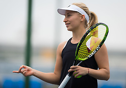 September 22, 2018 - Daria Gavrilova of Australia practices at the 2018 Dongfeng Motor Wuhan Open WTA Premier 5 tennis tournament (Credit Image: © AFP7 via ZUMA Wire)