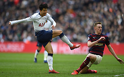 Tottenham Hotspur's Son Heung-min scores their first goal