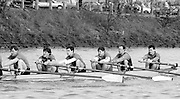 Chiswick. London.<br /> Eights starting from Mortlake<br /> NCRA, No.6 Hugh MATHERSON,No.3 Andrew WILSON,  <br /> 1987 Head of the River Race over the reversed Championship Course Mortlake to Putney on the River Thames. Saturday 28.03.1987. <br /> <br /> [Mandatory Credit: Peter SPURRIER;Intersport images] 1987 Head of the River Race, London. UK