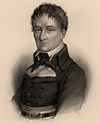 Lazare Nicolas Marguerite Carnot (1753-1823), French military engineer, revolutionary and statesman.   Became a member of the Legislative Assembly and  voted for death of Louis XV1. French Revolution. Engraving 1895.