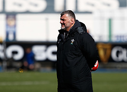 Head Coach Rowland Phillips of Wales during the pre match warm up<br /> <br /> Photographer Simon King/Replay Images<br /> <br /> Six Nations Round 5 - Wales Women v Ireland Women- Sunday 17th March 2019 - Cardiff Arms Park - Cardiff<br /> <br /> World Copyright © Replay Images . All rights reserved. info@replayimages.co.uk - http://replayimages.co.uk