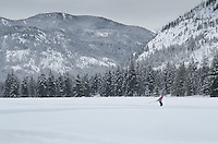 Cross-country skiers in Methow Valley washington