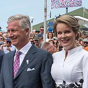 NLD/Terneuzen/20190831 - Start viering 75 jaar vrijheid,  Koning Filip van Belgie en koningin Mathilde