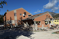 Norcia, central Italy on October 31, 2016 one day after the earthquake. Italy's most powerful earthquake in 36 years struck a new blow to the country's seismically vulnerable heart, terrifying residents for the third time in nine weeks. PHOTO by Eric Vandeville/ABACAPRESS.COM