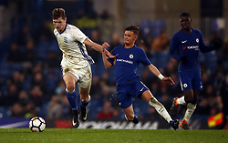 Chelsea's George McEachran, (right) battles for possession of the ball with Birmingham City's Josh Andrews
