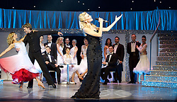Pixie Lott, Kristina Riahnoff and Robin Windsor in  Puttin' On The Ritz at New Wimbledon Theatre, London, Great Britain <br /> <br /> 27 May 2015 <br />  <br />  Pixie Lott and Strictly Come Dancing stars Robin Windsor, Kristina Rhianoff and Trent Whiddon.<br />  <br /> <br /> Photograph by Elliott Franks <br /> Image licensed to Elliott Franks Photography Services