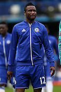 Mikel John Obi of Chelsea looks on before the match. Barclays Premier league match, Chelsea v Stoke city at Stamford Bridge in London on Saturday 5th March 2016.<br /> pic by John Patrick Fletcher, Andrew Orchard sports photography.