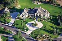 An aerial photograph of a private home in Mapleton