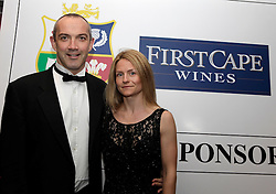 © Licensed to London News Pictures. 31/10/2012. London, U.K. .Conor O'shea (l) of the harlequins joined the star studded line-up for the Ugo Monye Halloween Ball supported by FIRSTCAPE WINE at Grovesnor House Hotel, Park Lane, London this evening (31/10/2012). An auction was held to raise money for Ugo Monye's selected charities: Help a capital child and The Rugby players benevolent fund..Photo credit : Rich Bowen/LNP