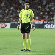 Referee's Ali Palabiyik during their Turkish Superleague soccer match Mersin Idman Yurdu between Galatasaray at the Mersin stadium in Mersin Turkey on Sunday 12 May 2015. Photo by Aykut AKICI/TURKPIX