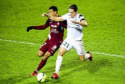 January 17, 2018 - Metz, France, France - Romain Hamouma (ASSE) vs Matthieu Dossevi  (Credit Image: © Panoramic via ZUMA Press)