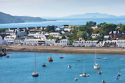 Popular town of Ullapool in Cromartyshire in the Scottish Highlands