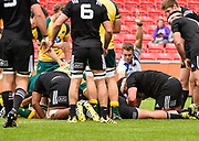 referee Mr Craig Evans (Wales) awards a push-over try during the World Rugby U20 Championship 5rd Place play-off  match Australia U20 -V- New Zealand U20 at The AJ Bell Stadium, Salford, Greater Manchester, England on Saturday, June  25  2016.(Steve Flynn/Image of Sport)