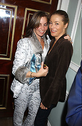 Left to right, CAROLE (partner of Hamish McAlpine) and actress AMANDA DONOHOE at a party to celebrate the publication of Strangeland by artist Tracey Emin at 33 Portland Place, London W1 ON 21ST OCTOBER 2005.<br /><br />NON EXCLUSIVE - WORLD RIGHTS