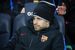 January 7, 2018 - Barcelona, Catalonia, Spain - Gerard Pique on the bench during the La Liga match between FC Barcelona and Levante UD, in Barcelona, on January 07, 2018. (Credit Image: © Joan Valls/NurPhoto via ZUMA Press)