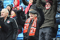 Fleetwood Town fans celebrate the second goal<br /> <br /> Photographer Andrew Vaughan/CameraSport<br /> <br /> Football - The Football League Sky Bet League One - Coventry City v Fleetwood Town - Saturday 27th February 2016 - Ricoh Stadium - Coventry   <br /> <br /> © CameraSport - 43 Linden Ave. Countesthorpe. Leicester. England. LE8 5PG - Tel: +44 (0) 116 277 4147 - admin@camerasport.com - www.camerasport.com