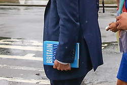 """© Licensed to London News Pictures. 10/06/2019. London, UK. Matt Hancock MP, candidate for the leadership of the Conservative Party and to become Prime Minister is seen holding a book titled """"Britain Beyond Brexit: A New Conservative Vision"""" in Westminster. Photo credit: Dinendra Haria/LNP"""
