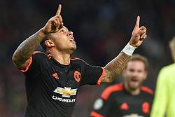 15-09-2015 NED: UEFA CL PSV - Manchester United, Eindhoven<br /> PSV kende een droomstart in de Champions League. De Eindhovenaren waren in eigen huis te sterk voor de miljoenenploeg Manchester United: 2-1 / Memphis Depay scoort de 1-0