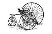 Illustration of an Excelsior Tricycle from The American bicycler: a manual for the observer, the learner, and the expert by Pratt, Charles E. (Charles Eadward), 1845-1898. Publication date 1879. Publisher Boston, Houghton, Osgood and company