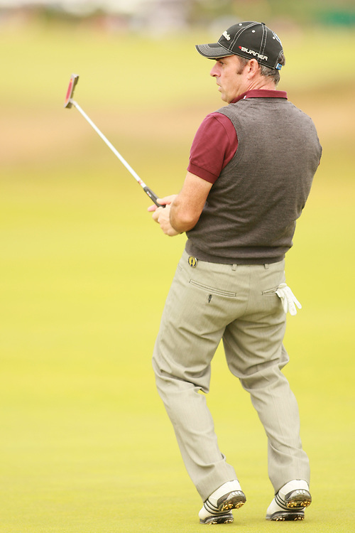 CARNOUSTIE, SCOTLAND - JULY 22:  Paul McGinley reacts to a missed putt during the fourth round of the 136th Open Championship in Carnoustie, Scotland at Carnoustie Golf Links on Sunday, July 22, 2007. (Photo by Darren Carroll/Getty Images) *** LOCAL CAPTION *** Paul McGinley