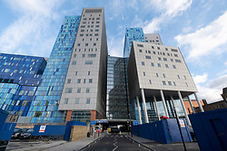 © Licensed to London News Pictures. 02/01/2021. London, UK.  The Royal London Hospital in Whitechapel, East London. The hospital has reported a surge of Covid-19 cases following the Christmas holidays. Photo credit: Ray Tang/LNP