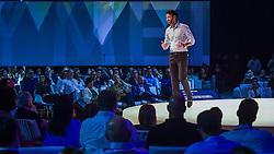 Eduardo Sirotsky Melzer durante o VOX - The Joy of Sharing, evento que pretende provocar reflexões sobre o futuro da comunicação a partir do compartilhamento de conteúdo e experiências. FOTO: Vinícius Costa/ Agência Preview