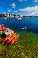 Manly Kayak Centre, in the harbor, Manly, Sydney, New South Wales, Australia