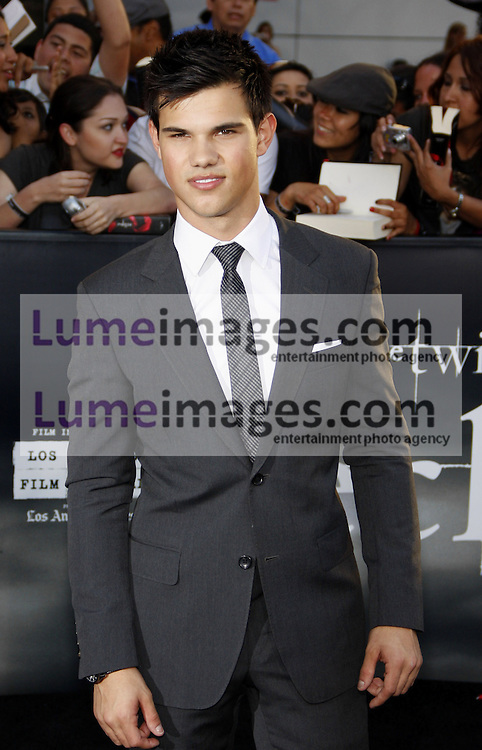 Taylor Lautner at the Los Angeles premiere of 'The Twilight Saga: Eclipse' held at the Nokia Theatre L.A. Live in Los Angeles on June 24, 2010. Credit: Lumeimages.com