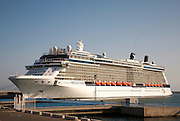 Celebrity Reflection cruise ship at the port of Malaga, Spain