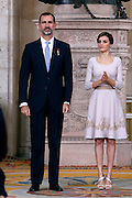 King felipe and Queen Letizia of Spain attend the 'Order of the Civil Merit' ceremony at the Royal Palace on June 19, 2015 in Madrid, Spain. Spanish Royals celebrate the first anniversary since King Felipe VI Coronation.<br /> ©Exclusivepix Media
