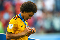 July 14, 2018 - Saint Petersburg, Russia - Axel Witsel of the Belgium national football team vie reacts after the 2018 FIFA World Cup Russia 3rd Place Playoff match between Belgium and England at Saint Petersburg Stadium on July 14, 2018 in St. Petersburg, Russia. (Credit Image: © Igor Russak/NurPhoto via ZUMA Press)
