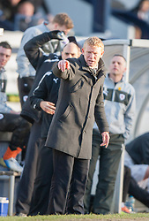 Falkirk's manager Gary Holt.<br /> Raith Rovers 2 v 4 Falkirk, Scottish Championship game today at Starks Park.<br /> © Michael Schofield.