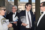 LINDSAY MACKIE; ALAN RUSBRIDGER; JEREMY PAXMAN; BRUCE PALLING, Opening of Grange Park Opera, Fiddler on the Roof, Grange Park Opera, Bishop's Sutton, <br /> Alresford, 4 June 2015