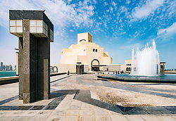 Exterior view of Museum of Islamic Art in Doha Qatar; architect IM Pei