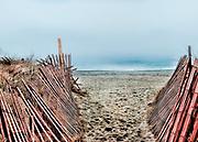 East Beach, Charlestown, Rhode Island on a foggy day.