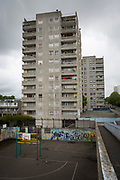 A 12 storey tower block on Thamesmead Estate, social housing run by the Peabody Trust, Greenwich & Bexley borough, London, UK. (photo by Andrew Aitchison / In pictures via Getty Images)
