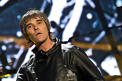 © licensed to London News Pictures . 30/06/2012 . Manchester , UK . Ian Brown fronts The Stone Roses on stage at Heaton Park during the band's comeback event . Photo credit : Joel Goodman/LNP