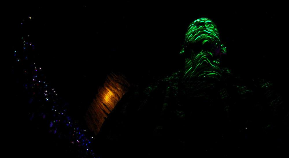 Red Rocks Amphitheater Morrison, Colorado. Electro-Light Photography.